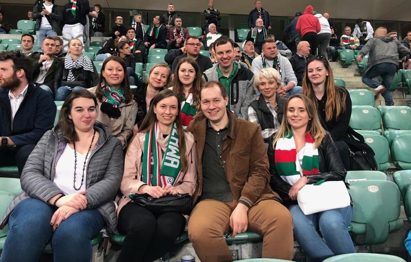 OWIW kibicowało Legii Warszawa w półfinale Pucharu Polski