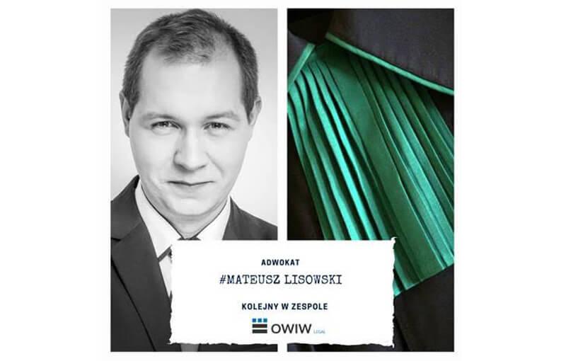 Mateusz Lisowski został adwokatem!